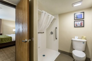 Comfort Inn & Suites Albuquerque - Guest Bathroom with Accessibility